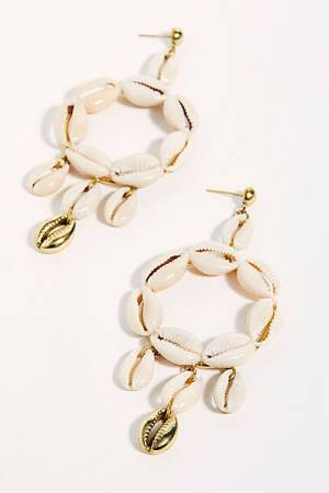 "Lena Bernard Hoop Earrings ""Shell"""