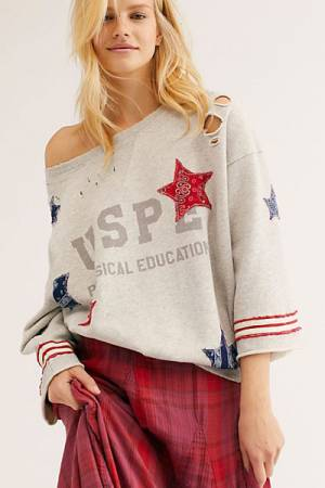 "Free People Pullover ""Patriotic Old Glory"""