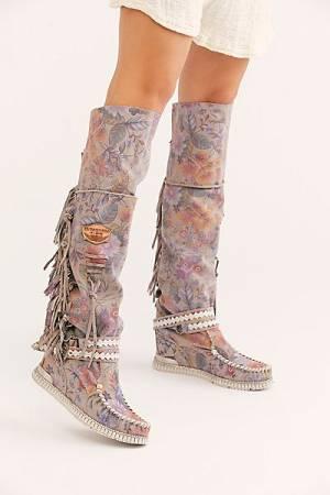 """El Vaquero Tall Moccasin Boots """"Indio"""""""