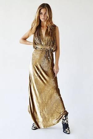 """Mes Demoiselles Maxi Dress """"Gold Helen"""""""