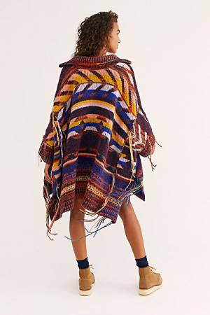 "Free People Poncho ""Follow The Arrow"""