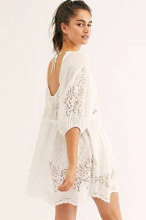 "Free People Tunic Dress ""Unrefined Eyelet"""