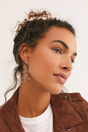 "Free People Dangle Earrings ""Love"""