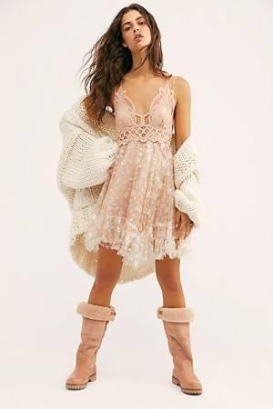 "Free People Mini Dress ""Adella Sequin Slip"""