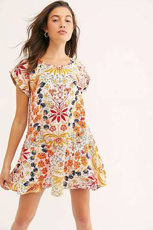 "Free People Mini Dress ""Floral Fields"""