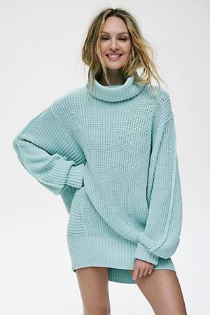 "Free People Sweater ""Turquoise Cocoa"""