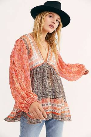 "Free People Top ""Aliyah Printed Tunic"""