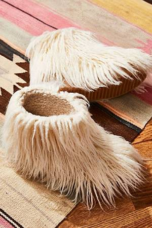 "Jeffrey Campbell Faux Fur Boots ""Snowies Slip-On"""