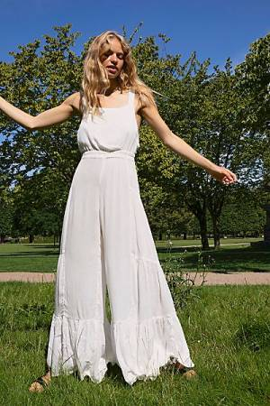 "Free People Jumpsuit ""White Selfie"""