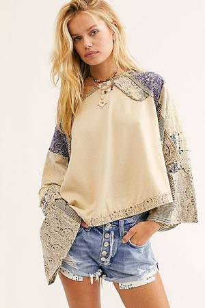 "Free People Top ""In Pieces Boho"""