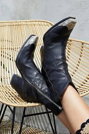 "Free People Western Boots ""Black Brayden"""