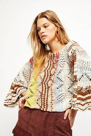 "Free People Sweater ""Coral Reef Pullover"""