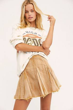 "Free People Denim Mini Skirt ""Lived In Love"""