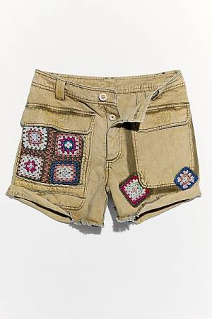 "Free People Shorts ""Follow Rivers Crochet"""