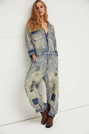 "Magnolia Pearl Denim Coverall ""Galaxy"""