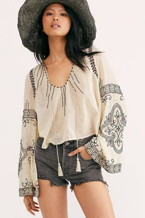 """Free People Top """"Hear The Beat Blouse"""""""