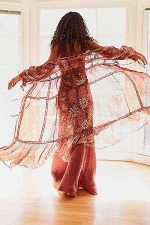 "Free People Kimono Robe ""Grasslands"""