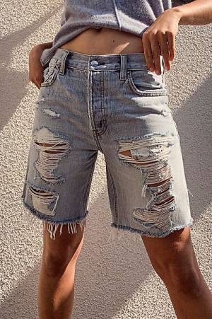 "Free People Denim Shorts ""Sequoia"""