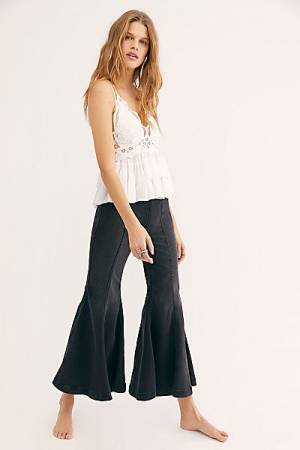 "Free People Flare Jeans ""Black Cha Cha"""