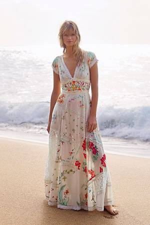 "Free People Maxi Dress ""Hibiscus Heaven"""