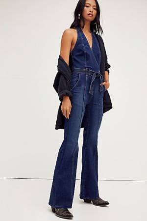 "MOTHER Denim Jumpsuit ""The Halter Doozy"""