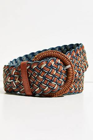 "Free People Belt ""Woven Denim"""