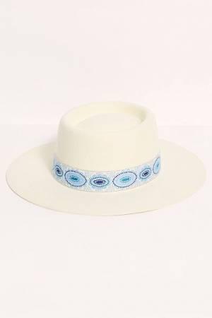 "Lack of Colour Hat ""Azure Lolita Boater"""