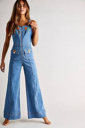 "Alice McCall Retro Denim Jumpsuit ""Winona"""