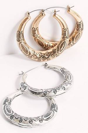 "Free People Hoop Earrings ""Western"""