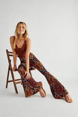 "Free People Flare Pants ""Wildflower Bell-Bottoms"""
