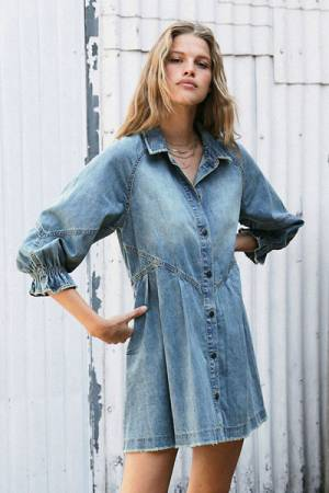 "Free People Denim Mini Dress ""Hannah"""