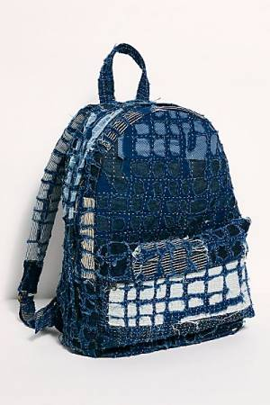 Indigo Patchwork Backpack