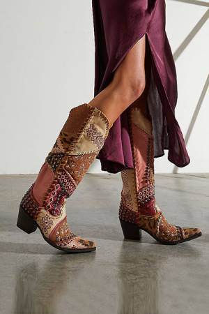 """Old Gringo Western Boots """"Mexicali Patchwork"""""""