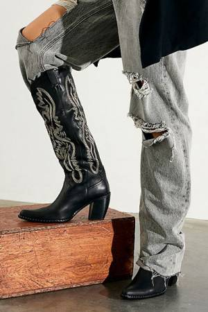 "Jeffrey Campbell Tall Western Boots ""Badlands"""