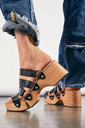 """Free People Shoes """"Virgo Strappy Clogs"""""""