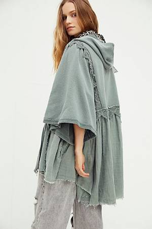 "Free People Cardigan ""Hey Girl Hoodie"""