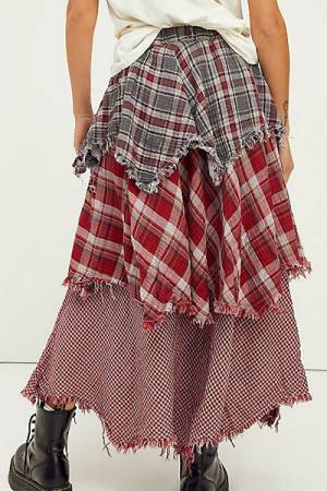"CP Shades Maxi Skirt ""Plaid Magnolia"""