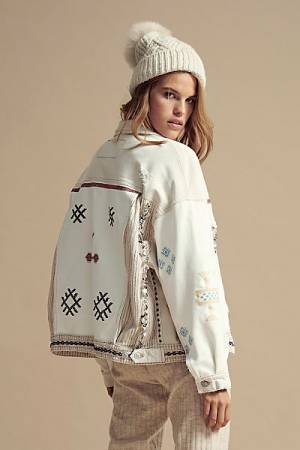"Free People Denim Jacket ""Winter Cactus"""