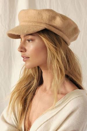 "Free People Hat ""Phoebe Lieutenant Cap"""