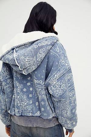 "Free People Hooded Jacket ""Paisley Billie"""