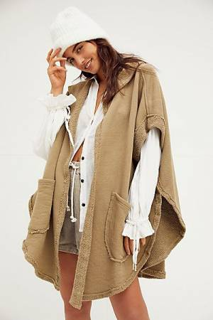 "Free People Cardigan ""Staycation Poncho"""