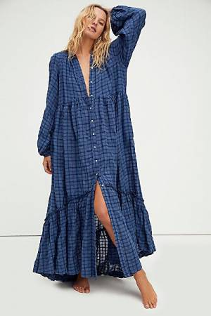 "Free People Maxi Dress ""Plaid Edie"""