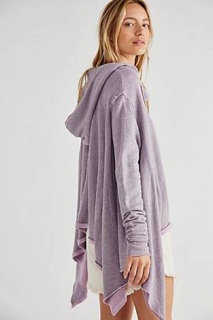 "Free People Top ""Here We Are Hoodie Pullover"""