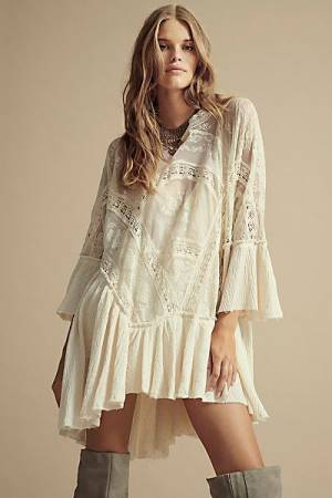 "Free People Swing Dress ""Layered In Lace"""