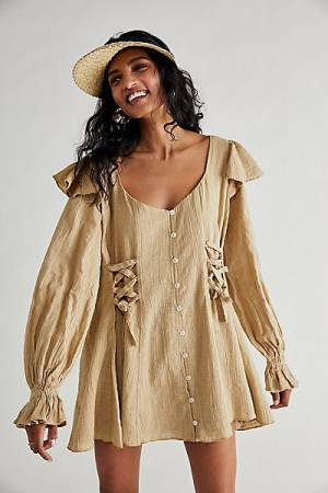 "Free People Mini Dress ""In The Mood For Frills"""