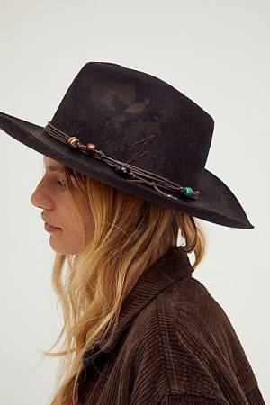 "Free People Felt Hat ""Outback Charm"""