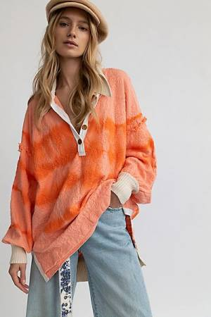 "Free People Top ""Sunrise Polo"""