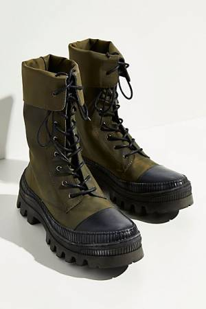 "Free People Combat Boots ""Khaki Goldie"""