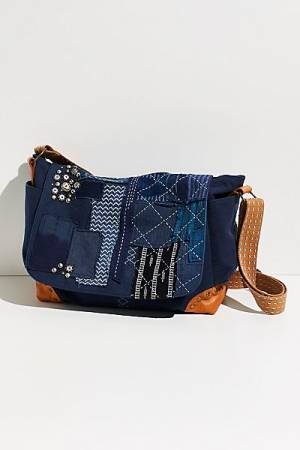 "Free People Messenger Bag ""Home Run Patchwork"""