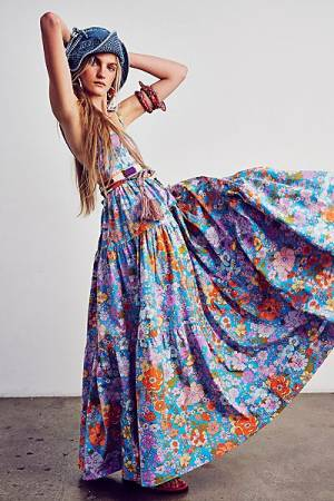 "Free People Maxi Dress ""Bohemian Park Slope"""
